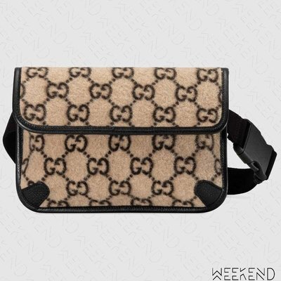 【WEEKEND】 GUCCI GG Wool Belt Bag 胸口包 腰帶包 腰包 米色 19秋冬 598181