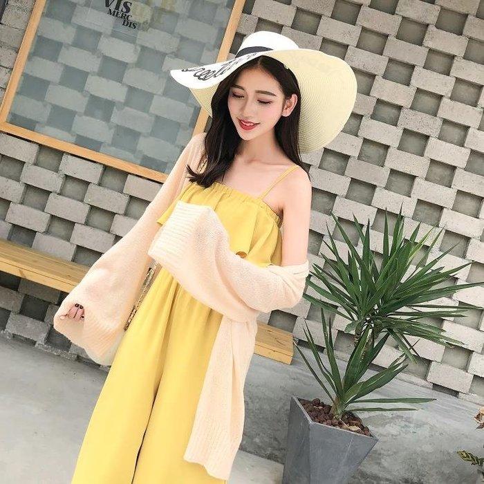 2019冬夏新款舒適寬鬆防曬小披肩外套氣質杏色開衫女上衣禮物
