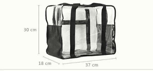 新娘飾品瑪姬主義- J002# 輕便超大容量透明袋--新娘秘書新秘用品婚禮配飾專賣--