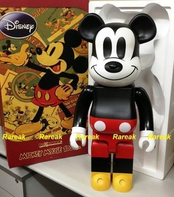 Medicom 2009 Bearbrick Disney 1000% Mickey Mouse 米奇老鼠 Original First be@rbrick
