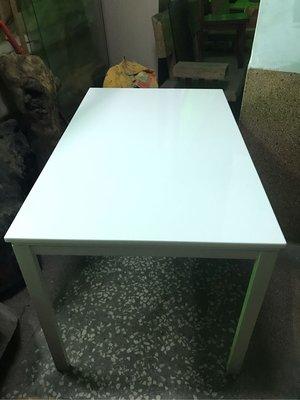 💕 二手 北歐風 雪白大理石 長方桌+正方形 大理石面 厚18mm  純白鐵腳 餐廳、家用、辦公室超美實用