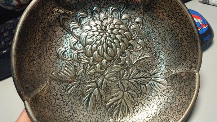 日本 明治 錫 菊紋 水洗
