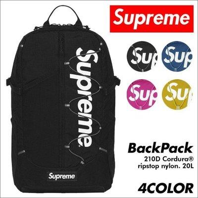 全新商品 SUPREME 42th 42代 Cordura Box Logo Backpack 背包 後背包 黑色