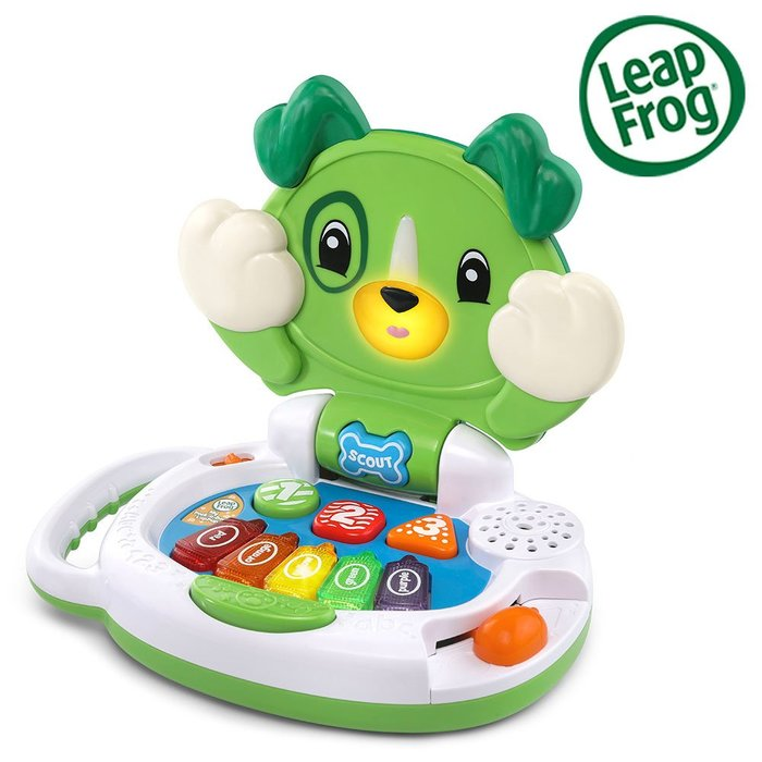 Leap Frog 跳跳蛙 躲貓貓筆電小狗/綠