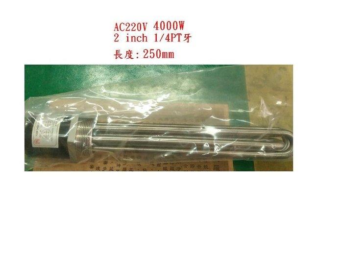 白鐵電熱管AC220V 4000W  電源端2線