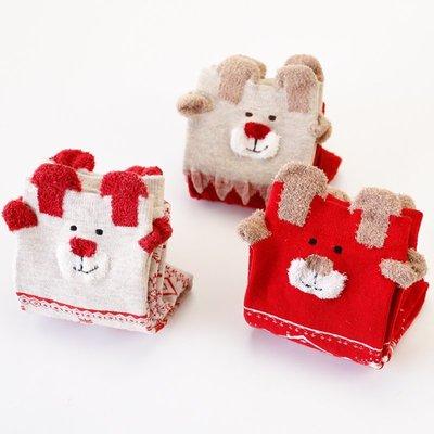 襪子 新年紅色襪子女中筒襪日系可愛卡通圣誕襪女禮盒襪結婚新娘襪子