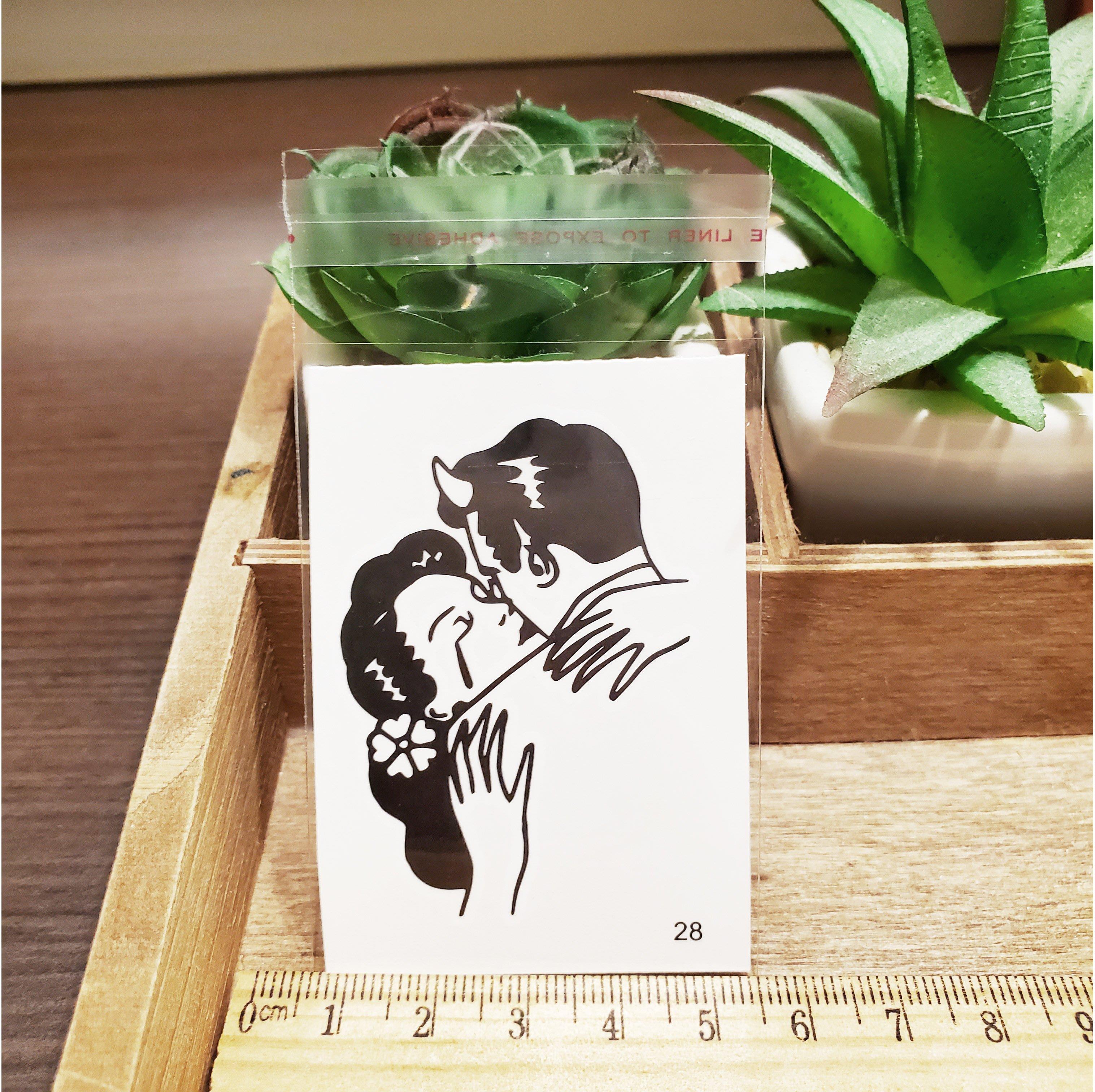 【萌古屋】百態人28單圖 - 男女防水紋身貼紙刺青貼紙 K43