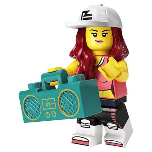 現貨【LEGO 樂高】積木/ Minifigures 人偶包系列: 20代 71027 | #2 街舞女孩+音響