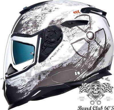 ♛大鬍子俱樂部♛ NEXX® SX.100 Toxic White 歐洲 復古 CAFE 街車 哈雷 全罩 安全帽