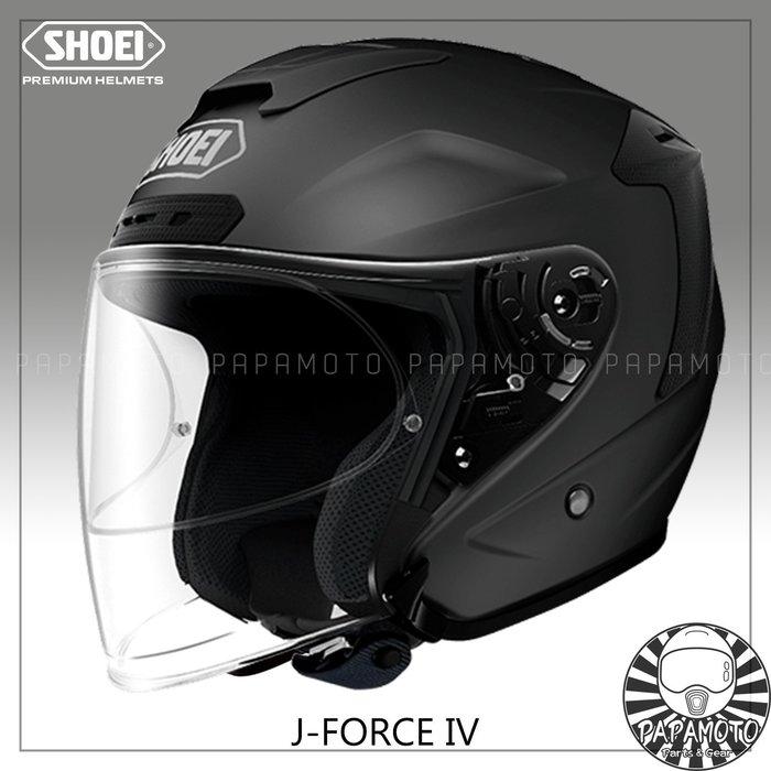 【趴趴騎士】SHOEI J-Force4 - 消光黑 3/4 安全帽 (內附PINLOCK防霧片 JForce