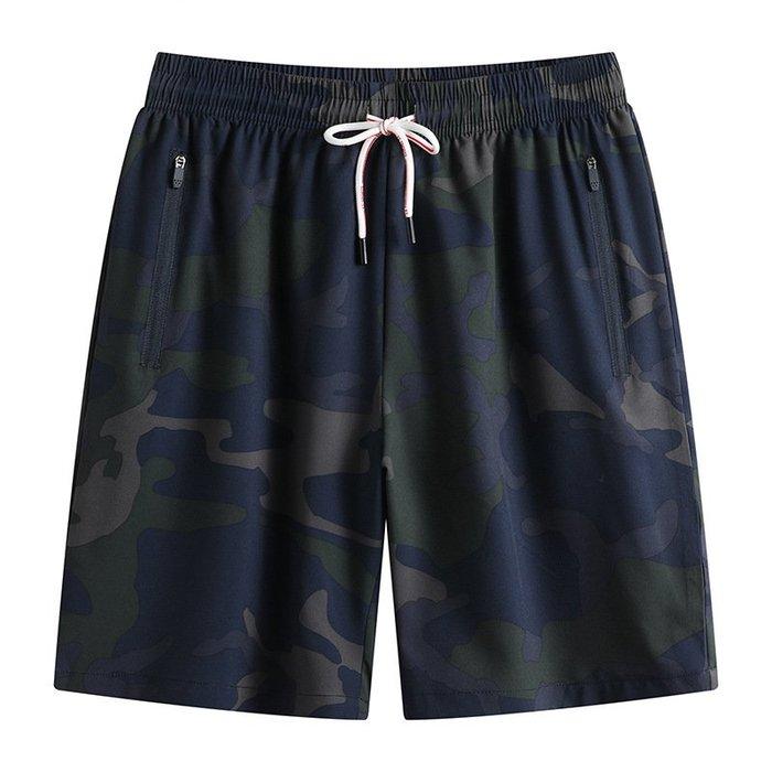 時尚服飾夏季新款潮胖子男士加肥加大碼時尚休閑迷彩8xl大號肥佬短褲250斤