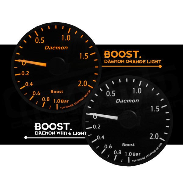 ☆光速改裝精品☆ Daemon II BOOST 增壓錶 渦輪表 BMW 寶馬  ( 橘光遙控器版本)  直購2500元.