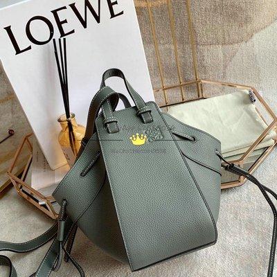 Loewe 神秘灰 Mini Hammock Dw Bag 進口小牛皮 上身賊好看[偷笑] 11x19.5x17