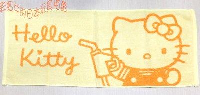 日本帶回 企業物 非賣品 三麗鷗 HELLOKITTY 凱蒂貓 EXPRESS 加油員 毛巾 一條