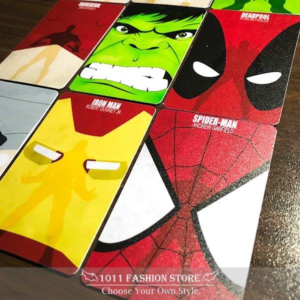 復仇者聯盟 鋼鐵人 美國隊長 綠巨人浩克 雷神索爾 蜘蛛人 icash2.0 悠遊卡 一卡通 限量 卡貼 大臉款