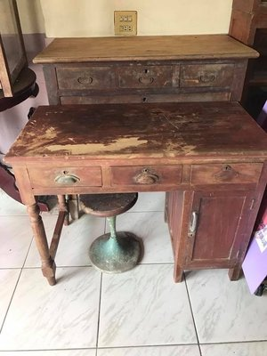 阿公的舊情人 # 早期 檜木書桌