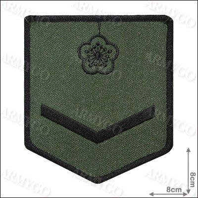 【ARMYGO】陸軍士兵階級臂章 (黑框)
