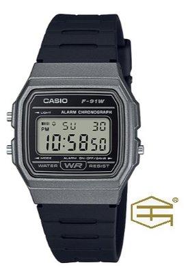 【天龜 】CASIO  經典復古  簡約電子錶  F-91WM-1B 台中市