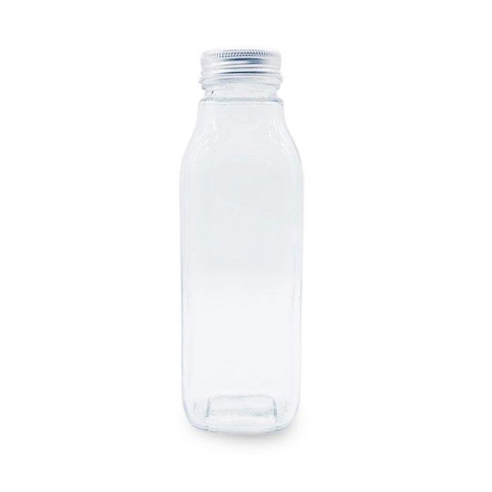 鋁蓋玻璃420ml方瓶☆ VITO zakka ☆ 漂流瓶 許願瓶 儲物瓶 冷泡茶玻璃瓶