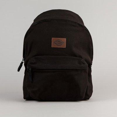 (預購商品) dickies 歐線 黑色 皮革 皮牌 壓印 LOGO 帆布 手提 肩背 後背包 背包 台中市