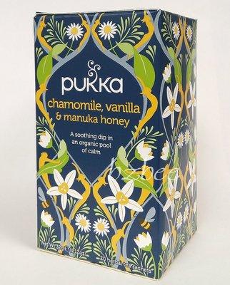 【特價 現貨】英國 Pukka Herbs 洋甘菊香草麥蘆卡蜂蜜茶