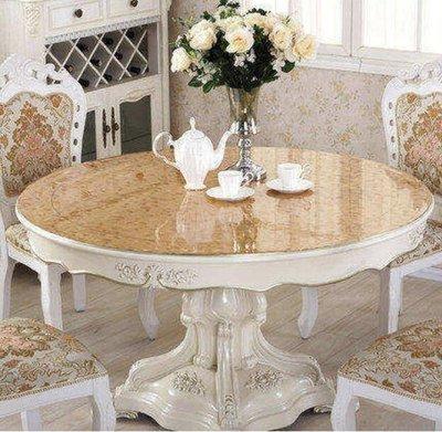 定制pvc圓桌桌布彩色軟玻璃圓形桌墊防水圓形臺布防油防燙茶几墊-尺寸60cm圓