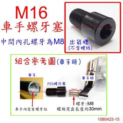 APO~D12-27~M16車把手螺牙塞內孔牙M8/車把鏡配件/MT07/TMAX530/XJR1300/MT09