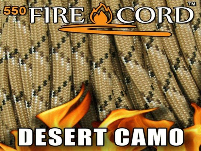 【angel 精品館 】FireCord 火種傘繩25呎 / 沙漠風暴迷彩色FC-DSCAMO25