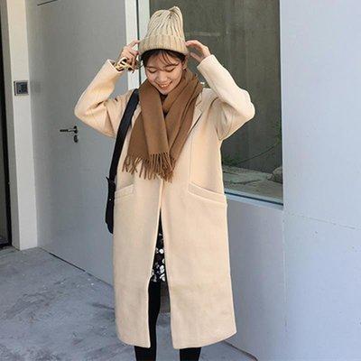 冬流行大衣韓版寬松休閑簡約氣質ins長袖超長款外套女過膝