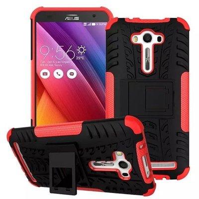 ASUS  Zenfone2 laser 5.5手機殼華碩 ZE550KL Z00LD 輪胎紋 保護套 全包 防摔 支架 外殼 N