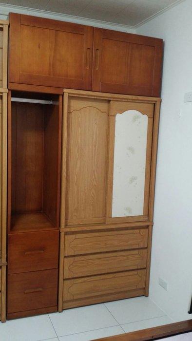 美生活館 全新鄉村家具訂製 客製化 全紐松原木 柚木色組合 衣櫥 衣櫃 收納櫃 棉被櫃 也可修改尺寸顏色再報價
