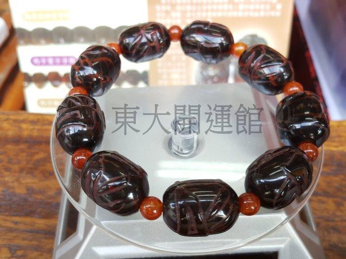 此件店面已售#西藏天珠材質瑪卡黃金龍麟玉髓手鍊鼓珠 天然純淨老礦新採 財寶天王種子字咒 磁場乾淨 能量強【東大開運館】