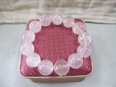 二手舖 NO.630 粉水晶手鍊 手珠 串珠