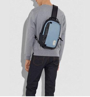 ㊣國際品牌COACH庫㊣美國代購COACH 3762【2件免運】收納包 單肩後背包 胸包 書包 多功能男背包