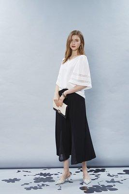 【 BEGONIA 】春夏品牌服飾新品特價~素面造型透色袖V字上衣 NO.BG91101
