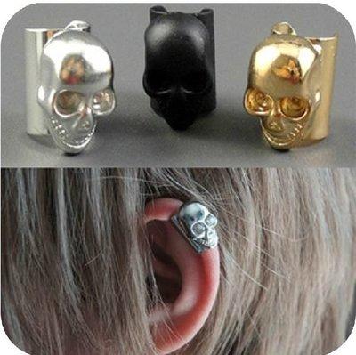 (小燕子日韓小物) 《E0172》歐美龐克耳夾骷髏頭耳骨夾耳骨環夾式耳釘