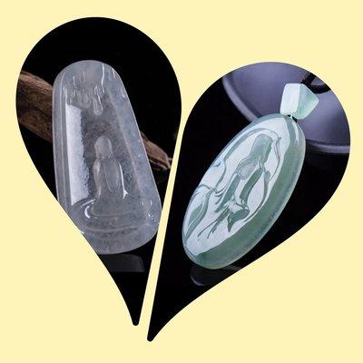 【福報來了】(收藏作品)張森才冰種翡翠飄花,到手就是個(冰)字。兩個作品一個價!
