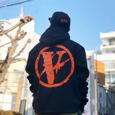 VLONE x Fragment Friends Logo Hoodie 聯名 閃電大V 藤原浩 帽t 連帽外套 黑橘