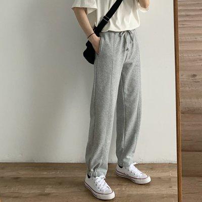【UBY】時髦運動風!毛圈半收口休閒褲◄No03104