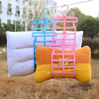 晾枕頭衣架落地折疊涼衣服曬架簡易室內曬衣架子單桿掛被子