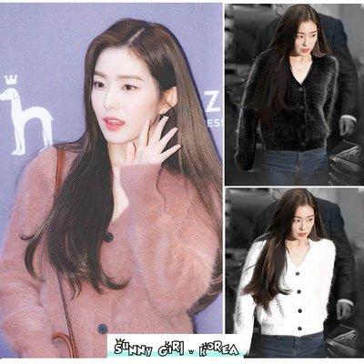 針織外套*Sunny Girl*韓國Redvelvet Irene同款復古毛絨短版毛衣外套 2019十一月新款