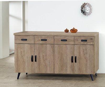 【南洋風休閒傢俱】精選餐櫃系列-碗盤櫃組 餐櫃 櫥櫃 收納櫃-古橡木5.3尺碗盤餐櫃CY357-18