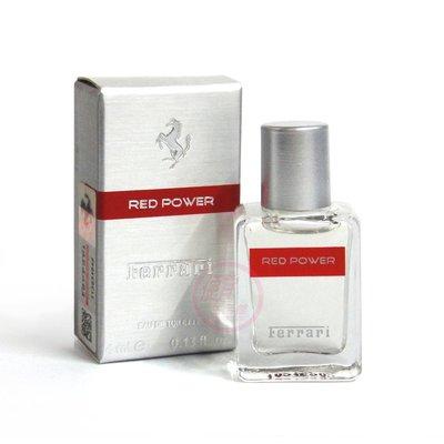 便宜生活館【香水】Ferrari 法拉利 Red Power 熱力 男性淡香水4ml 小香 全新公司貨 (可超取)