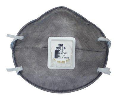 @安全防護@ 3M 9913V P1 帶閥活性碳口罩 10個/盒 另有8210 9913 9002V 8577 8247