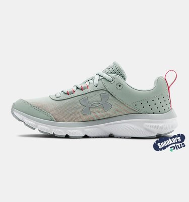 女鞋 UA Charged Assert   運動 休閒 慢跑鞋 粉綠     9