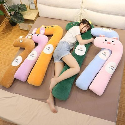 新款長條抱枕女生可愛睡覺側睡夾腿床上靠背墊自帶枕頭可拆洗