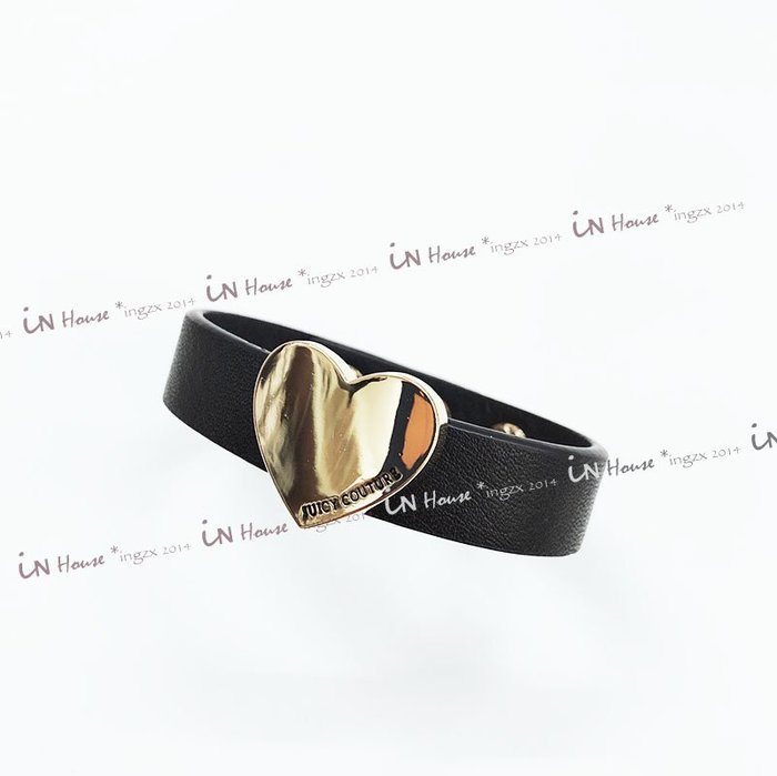 IN House* 歐美 個性 飾品 金色 愛心 皮帶 金屬釦 手環 手鍊 限量 (特價)