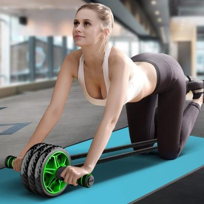 健腹輪腹肌女男收腹滾輪初學者馬甲線運動健身器材家用CLSJ19320
