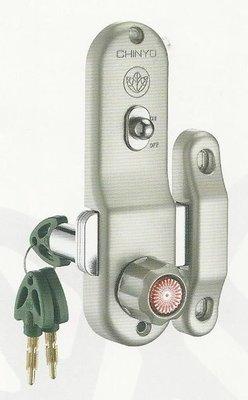 青葉牌鋁門鎖 HCS003b 647三代鋁門平鎖(無鈎) 推拉門用 1000型 鎖管長52mm AT鑰匙