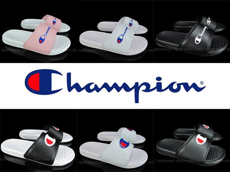 CHAMPION 運動拖鞋 Benassi 男女都有 六色齊發 情侶拖 版型偏小建議大一號穿著 # 733250-
